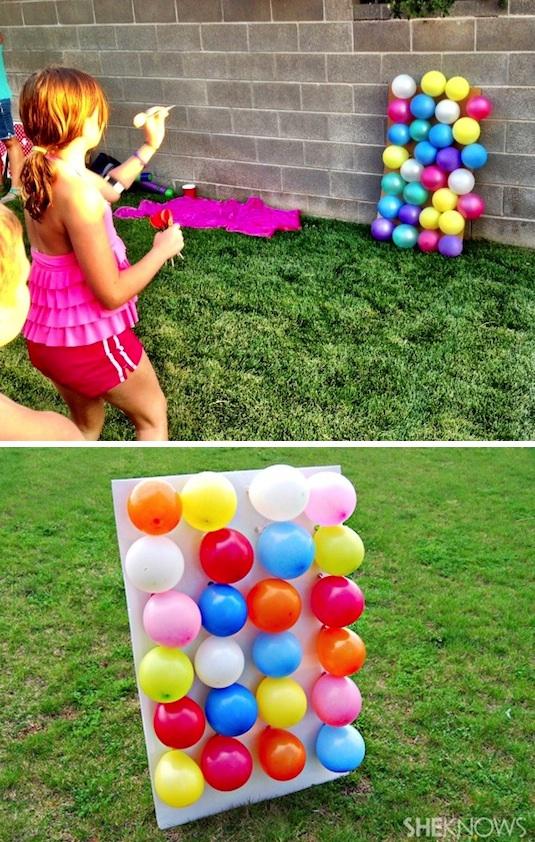 воздушные шарики и дротики