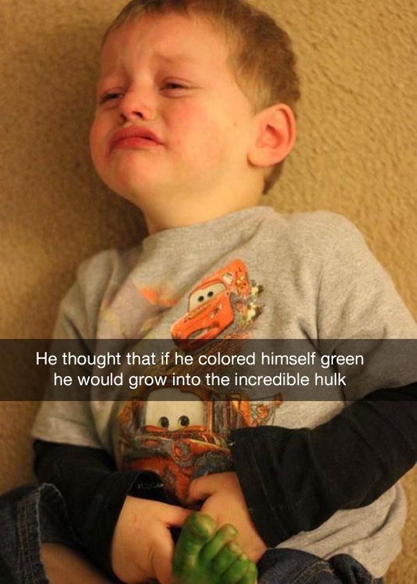 Он думал, что зеленка превратит его в Невероятного Халка