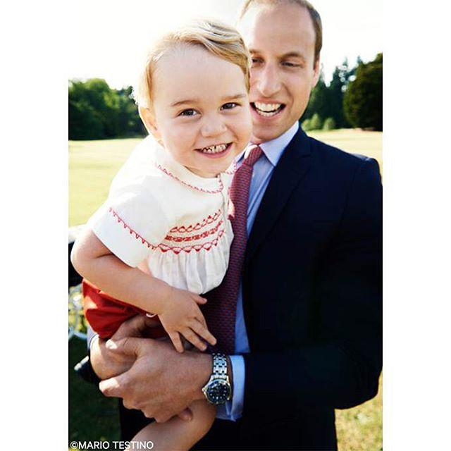 принц джордж и его отец
