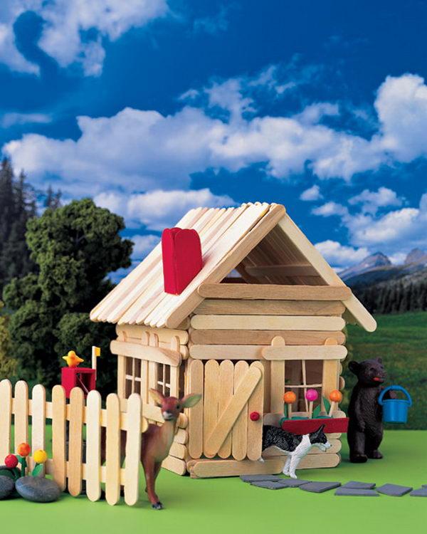 кукольный домик из палочек