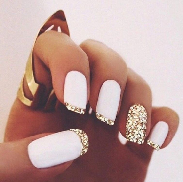 Белый гель лак на ногтях дизайн фото