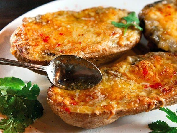 запечный картофель с грибами