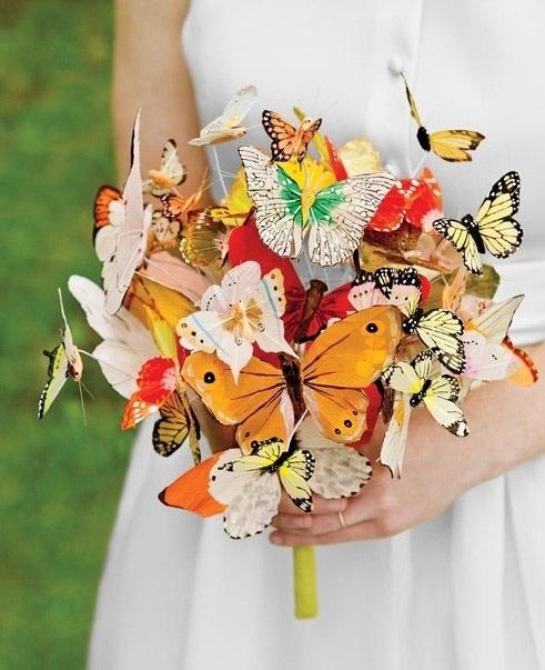 Букет из бабочек