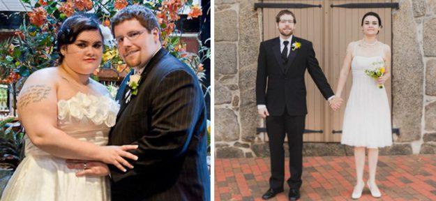 К 4-й годовщине девушка избавилась от 49, а парень от 58 лишних кг