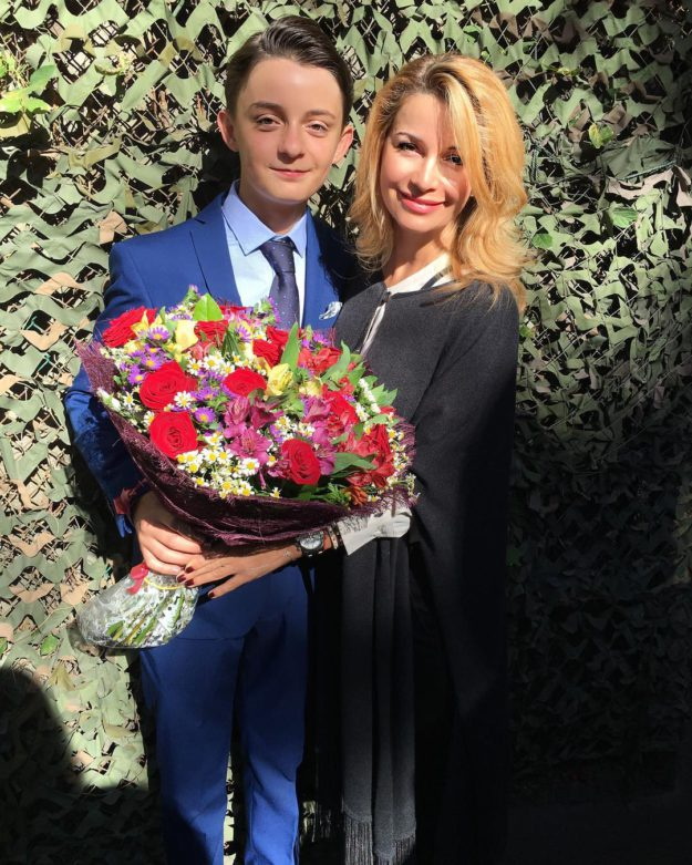 Певица Ольга Орлова с сыном