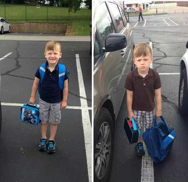 до и после школы