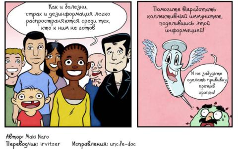Комикс, который развеивает мифы вокруг вакцинации