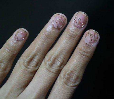 Новая идея для маникюра, пришедшая к нам из Южной Кореи: ногти с проволокой