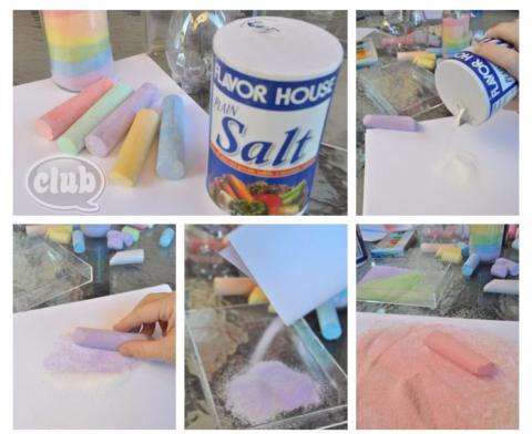 3 творческих проекта с цветной солью