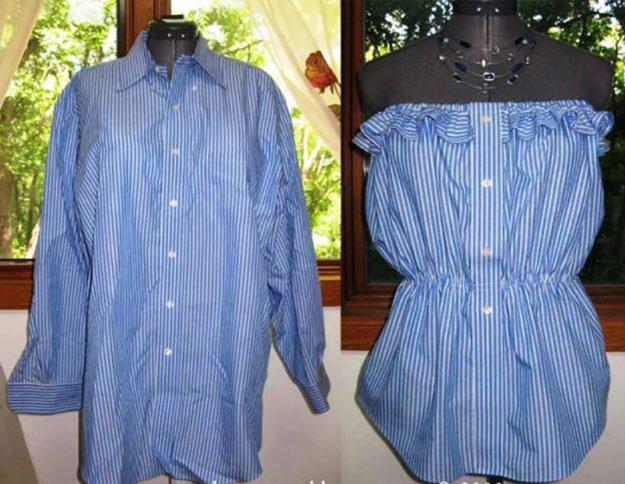 Как сшить модное платье на плечах