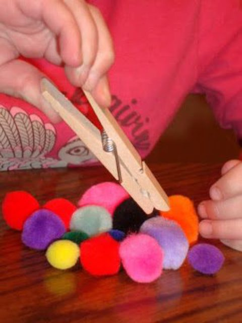 Игры с прищепками для детей от 3 до 5 лет