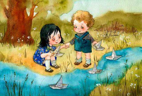 Оранжевое счастье в иллюстрациях Виктории Кирдий
