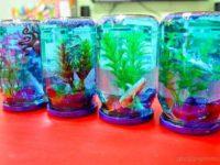 Летние поделки: как сделать декоративный аквариум своими руками