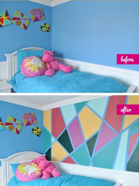 Простое и яркое преображение детской комнаты, с которым даже ребенок справится