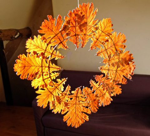 10 творческих проектов для детей с осенними листьями