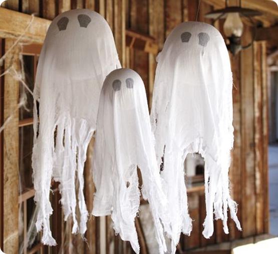 Как сделать приведения на хэллоуин видео
