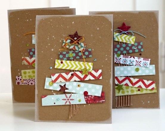 Простые новогодние открытки своими руками фото