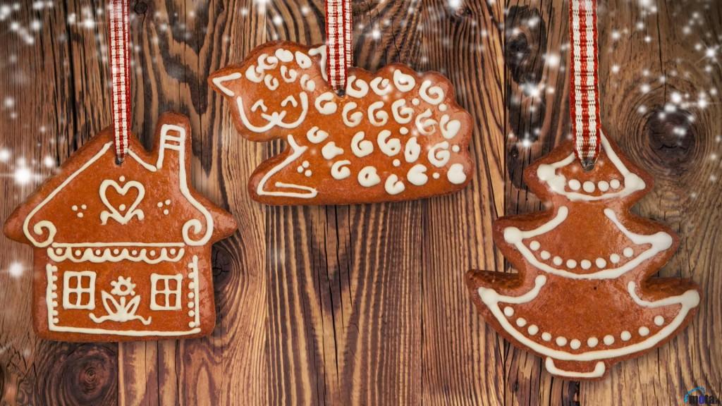 Имбирное печенье украшение на новый год