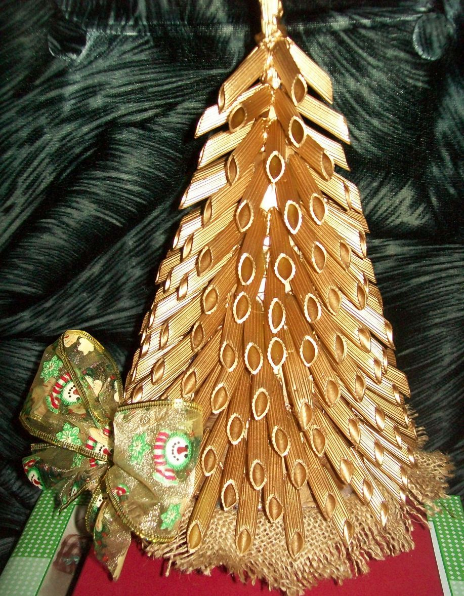 Сделать поделку елку из макарон своими руками