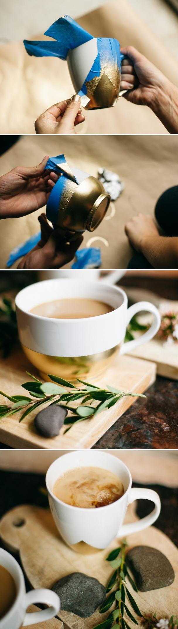 Украшенные чашки своими руками