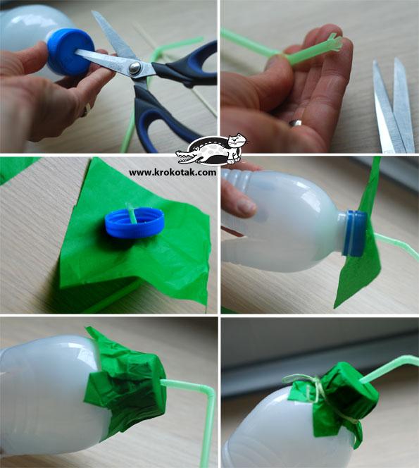 Как сделать из бумаги и бутылки 236