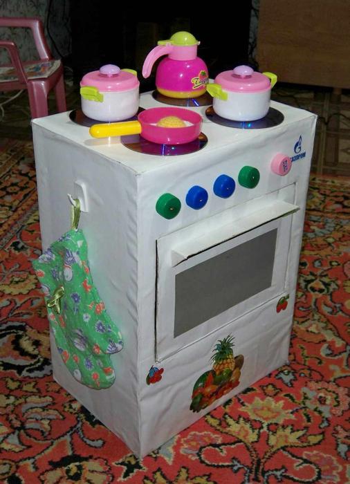 Плита для куклы своими руками 30