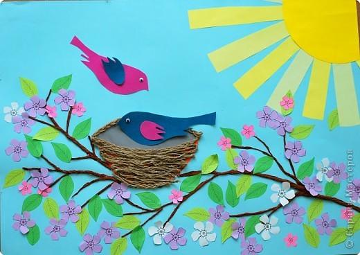 Поделка в детский сад на тему весна своими