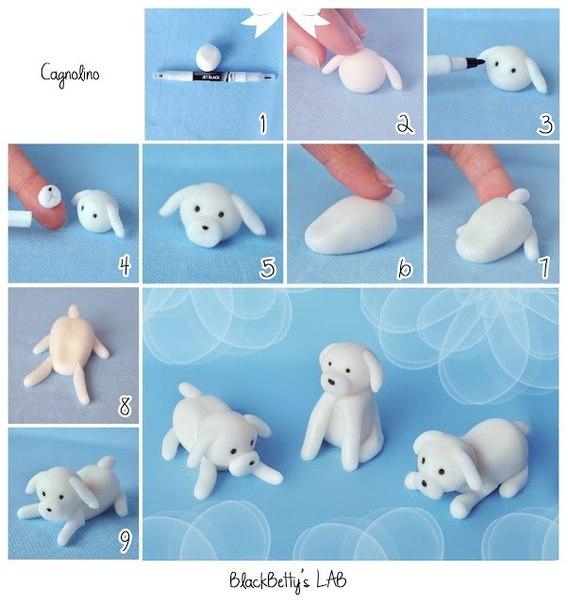 Как сделать из пластилина щенка гонщика