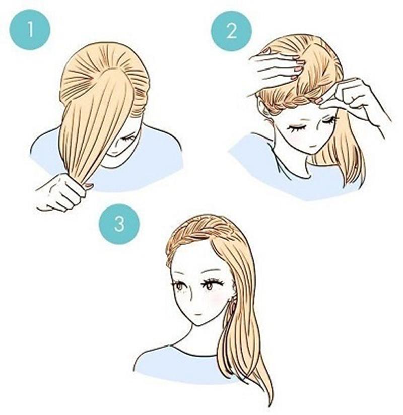 Лёгкие причёски на средние волосы с челкой своими руками