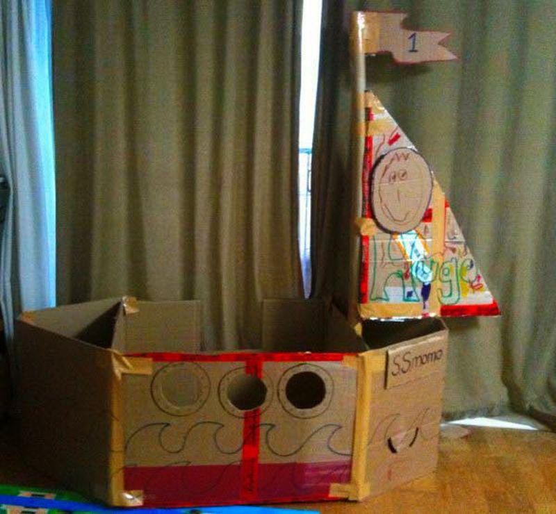 Корабль своими руками из картона для детей своими руками