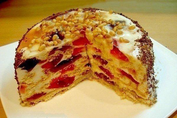 торт без выпечки 3