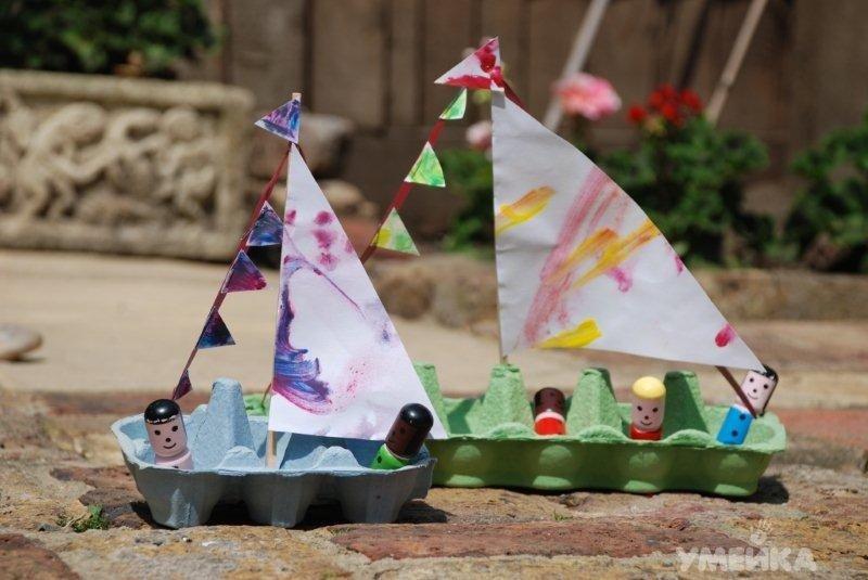 Как сделать кораблик для детей