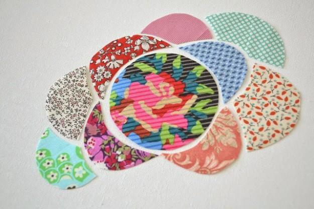 Как сделать панно из лоскутков ткани