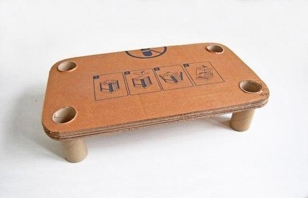 Столик из картона своими руками