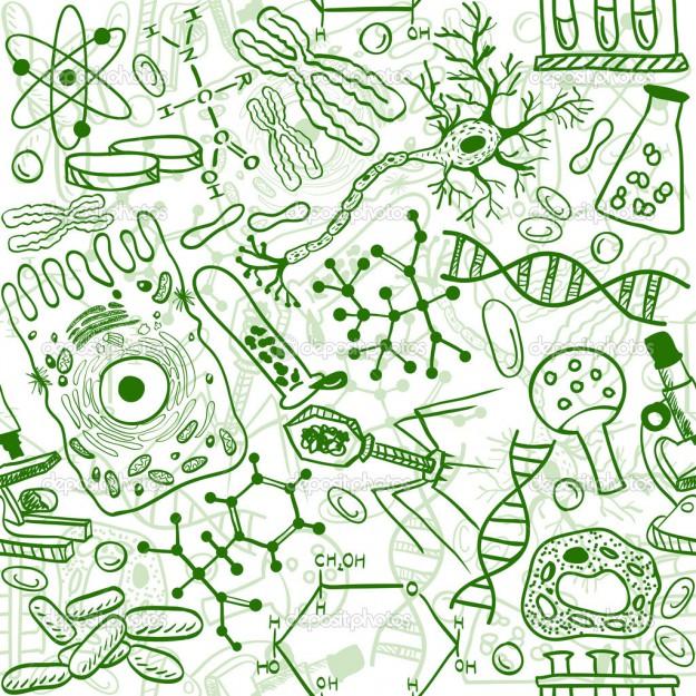 Biology seamless pattern