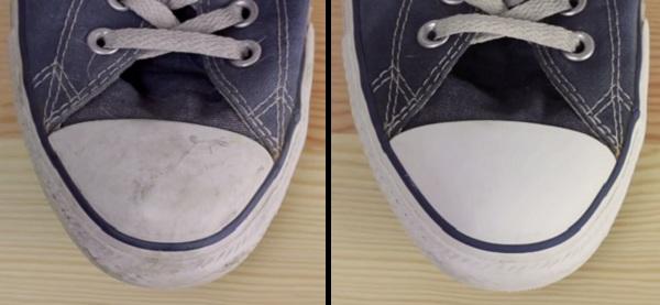 читим обувь зубной пастой