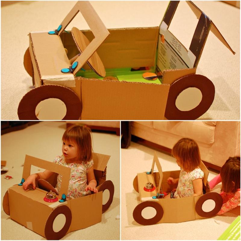 Игрушки для мальчика из коробок своими руками