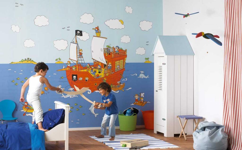 Обои на стену дизайн детской для мальчика