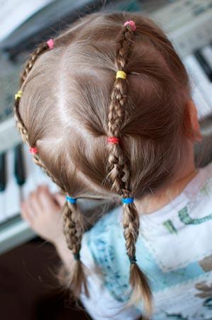 прическа в детский садик