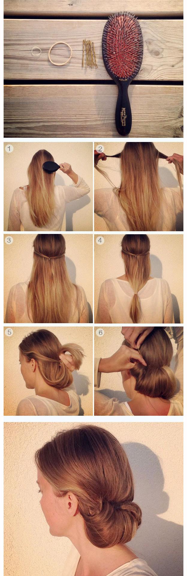Как быстро красиво сделать длинные волосы