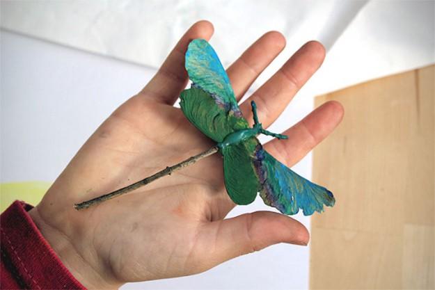 из семян стрекоза