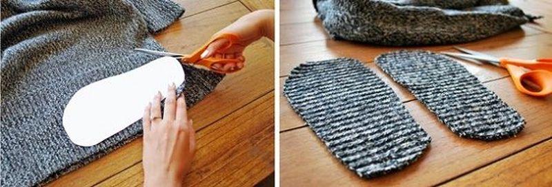 Носки из старых свитеров своими руками