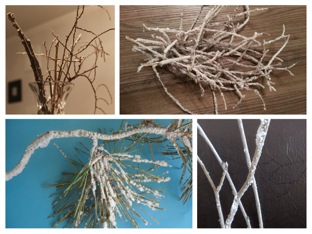 Как сделать ветки в снегу в домашних условиях