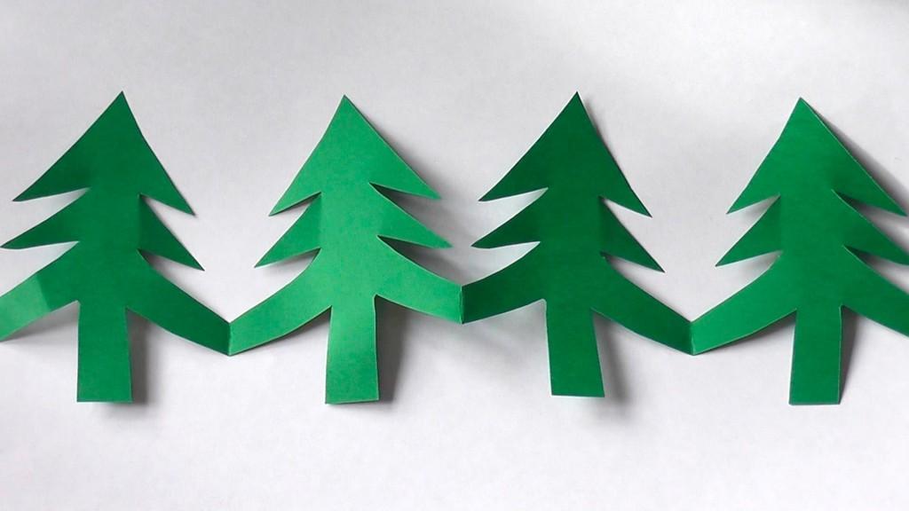 Как из бумаги сделать гирлянды новогодние