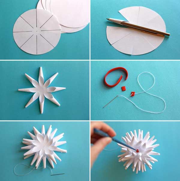 Снежинка своими руками объемная не из бумаги