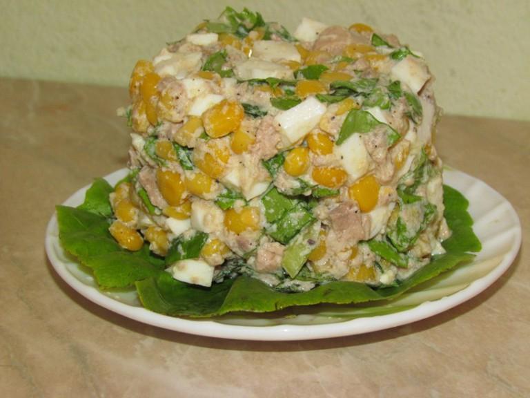 Салат с кукурузой пошаговый рецепт с фото с кукурузой