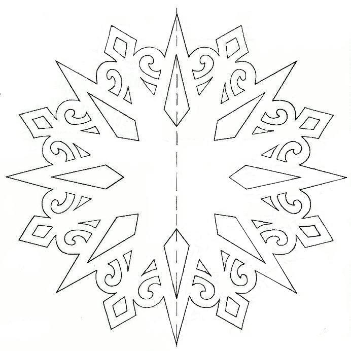 Схемы снежинки объемные из бумаги своими руками
