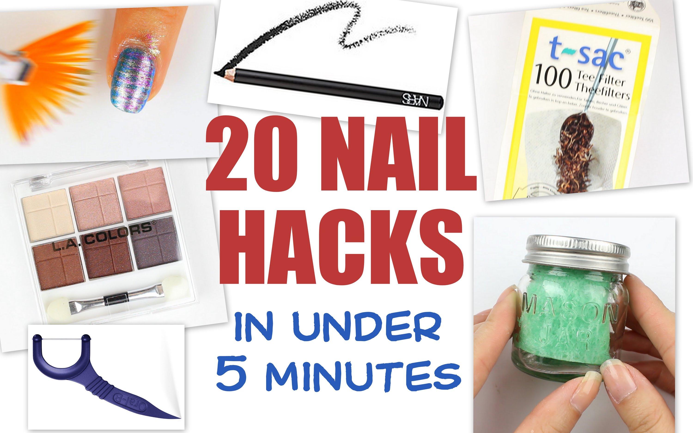 20 бесценных советов по дизайну ногтей на скорую руку в одном видео