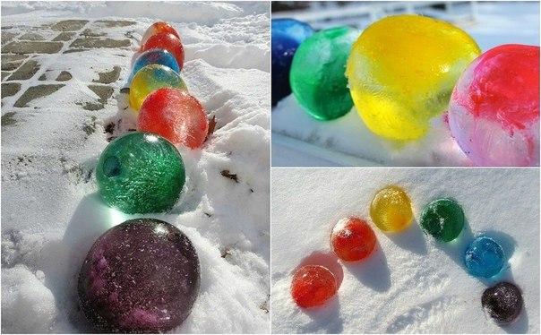 Как сделать шар из за льда