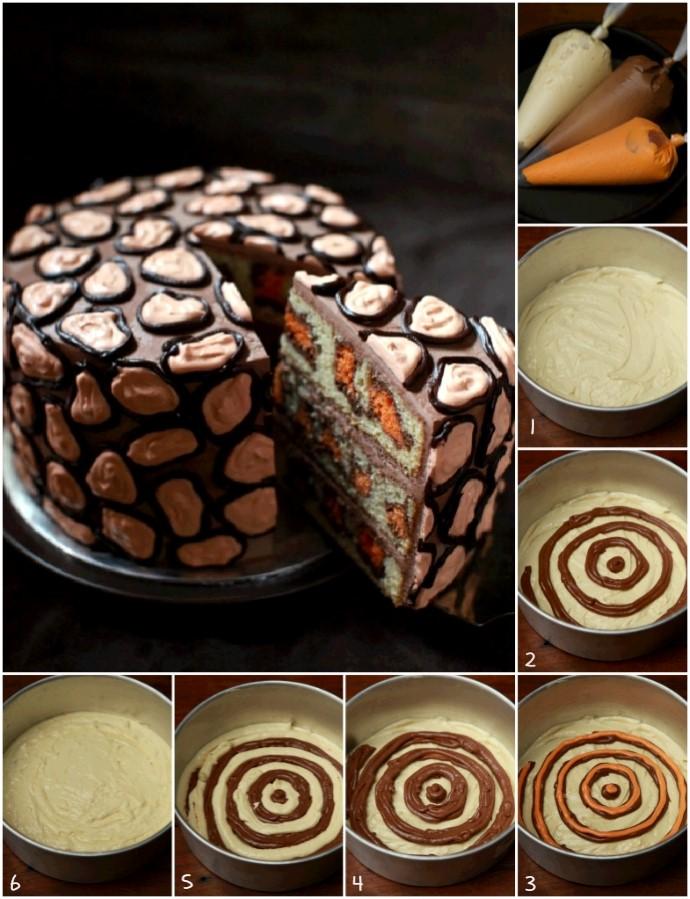 леопардовый торт